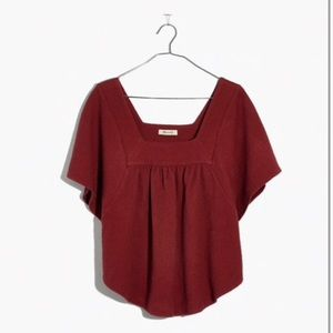 Madewell red butterfly top